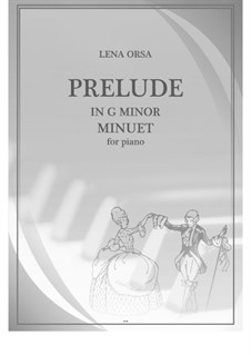 Twenty-Four Preludes for Piano: Prelude in G Minor 'Minuet' by Lena Orsa