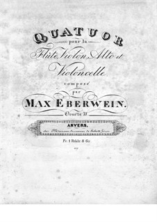 Quartet for Flute and Strings No.1 in G Minor, Op.71: Violin part by Traugott Maximilian Eberwein