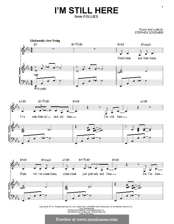 I'm Still Here: For voice and piano by Stephen Sondheim