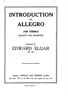 Introduction and Allegro, Op.47: Full score by Edward Elgar