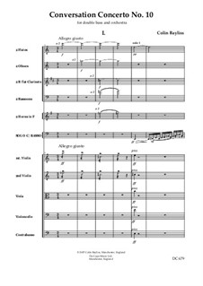 Conversation Concerto No.10 - for double bass and orchestra, B148: Score and parts by Colin Bayliss