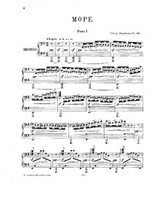The Sea. Fantasia, Op.28: For two pianos eight hands – piano I part by Alexander Glazunov