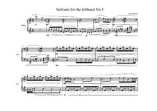 3 Solitudes for the left hand: No.3, MVWV 877 by Maurice Verheul