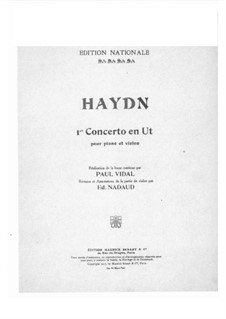 Concerto for Violin and Orchestra No.1 in C Major, Hob.VIIa/1: Solo part by Joseph Haydn