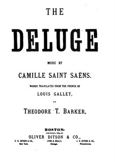 Le déluge (The Flood), Op.45: Piano-vocal score by Camille Saint-Saëns
