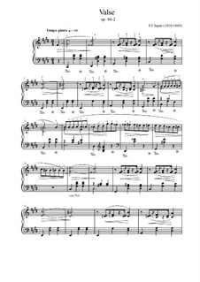 No.2 in C Sharp Minor: For piano by Frédéric Chopin