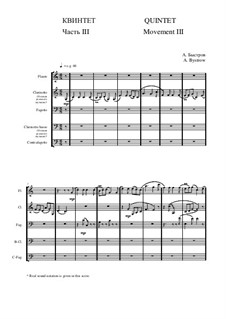 Quintet: Movement III - score I by Alexander Bystrov