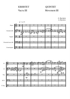 Quintet: Movement III - score II by Alexander Bystrov