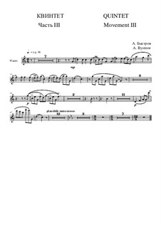 Quintet: Movement III - flute part by Alexander Bystrov