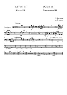 Quintet: Movement III - part of contrafagotto by Alexander Bystrov