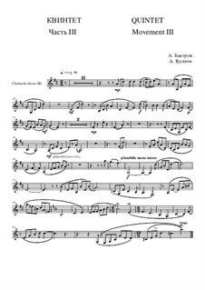 Quintet: Movement III - part of clarinetto basso (treble clef) by Alexander Bystrov