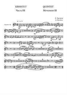 Quintet: Movement III - part of clarinet (B) by Alexander Bystrov