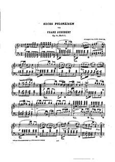 Six Polonaises, D.824 Op.61: For piano by Franz Schubert