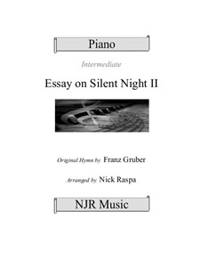 Silent Night, for Piano: For intermediate piano solo by Franz Xaver Gruber