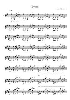 Этюд ми минор для гитары: Этюд ми минор для гитары by Konstantin Schenitsyn