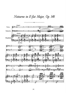 Nocturne for Piano, Violin and Cello, D.897 Op.148: Full score by Franz Schubert
