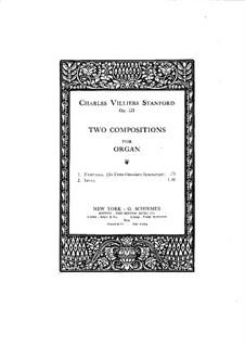 Two Pieces for Organ, Op.121: No.1 In Festo Omnium Sanctorum by Charles Villiers Stanford