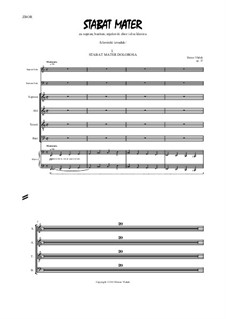 Stabat Mater, Op.37: Choral part with piano reduction by Bruno Vlahek