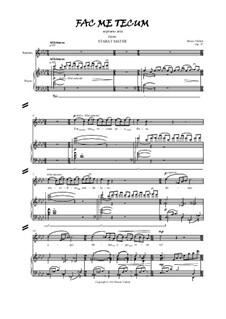 Stabat Mater, Op.37: Fac me tecum, for soprano and piano by Bruno Vlahek