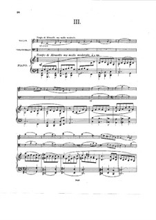 Piano Trio No.1 in E Flat Major, Op.35: Movements III-IV by Charles Villiers Stanford