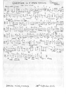 Question for solo viola: Question for solo viola by Daniel Mihai