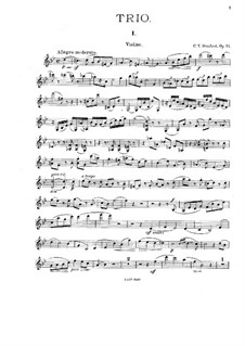 Piano Trio No.2 in G Minor, Op.73: Violin and cello parts by Charles Villiers Stanford