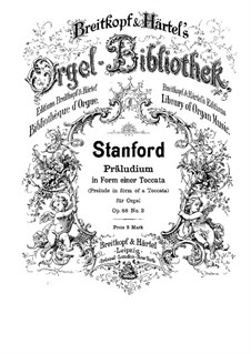 Six Preludes for Organ, Op.88: Prelude No.3 in form of a toccata by Charles Villiers Stanford