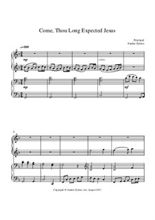 Come, Thou Long-Expected Jesus: For piano four hands by Rowland Huw Prichard