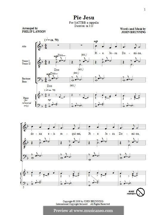 Pie Jesu: For mixed choir by John Brunning