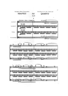 String Quartet No.2, Op.56: Full score by Karol Szymanowski
