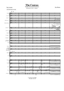 The Canvas, for treble choir and orchestra: Full score by Zae Munn