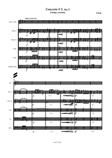 Student Concerto No.5 for Violin and Piano, Op.22: For violin solo and string orchestra by Friedrich Seitz