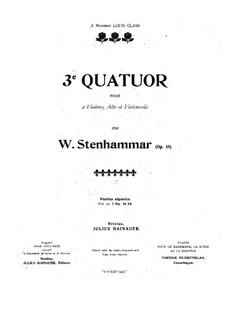 String Quartet No.3 in F Major, Op.18: Violin I part by Wilhelm Stenhammar