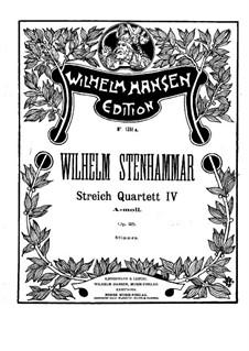 String Quartet No.4 in A Minor, Op.25: Violin I part by Wilhelm Stenhammar