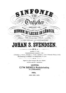 Symphony No.1 in D Major, Op.4: Movements I-III by Johan Svendsen