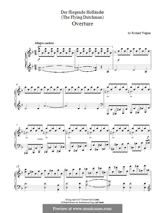 Fragments: Overture, for piano by Richard Wagner
