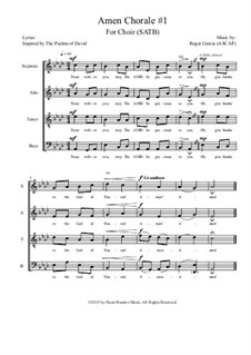 Amen Chorale: No.1 SATB by Roger Garcia