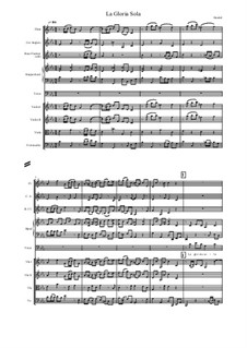 Admetus, King of Thessaly, HWV 22: La Gloria Sola, score and parts by Georg Friedrich Händel