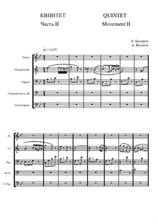 Quintet: Movement II - score II by Alexander Bystrov
