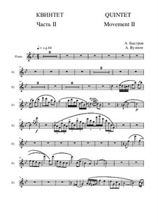 Quintet: Movement II - flute part by Alexander Bystrov