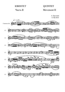 Quintet: Movement II - part of Clarinet (B) by Alexander Bystrov