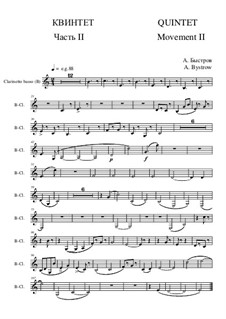 Quintet: Movement II - part of clarinetto basso (treble clef) by Alexander Bystrov