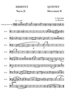 Quintet: Movement II - part of clarinetto basso (bass clef) by Alexander Bystrov