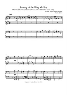 Journey of the King Medley: For piano four hands by folklore, John H. Hopkins Jr.