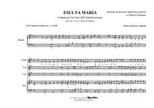 Esulta Maria - Exults Mary: Esulta Maria - Exults Mary by Renato Tagliabue