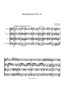 String Quartet No.20: String Quartet No.20 by Jordan Grigg