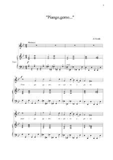 Piango, gemo sospiro e peno...: G Minor by Antonio Vivaldi