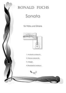Sonata for Flute and Guitar: Movement III Adagio by Ronald Fuchs