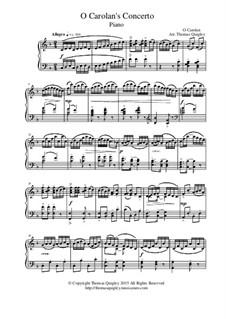 O Carolan's Concerto: For piano by Turlough O'Carolan