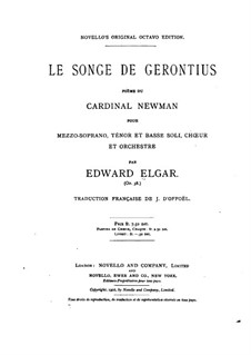 The Dream of Gerontius, Op.38: Piano-vocal score by Edward Elgar